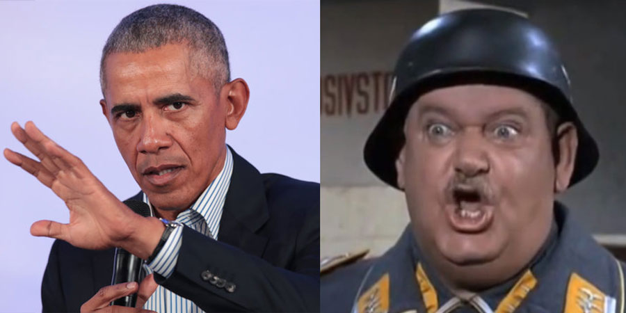 Obama and Sergeant Schults