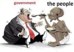 thin Public Feeding Fat Govt
